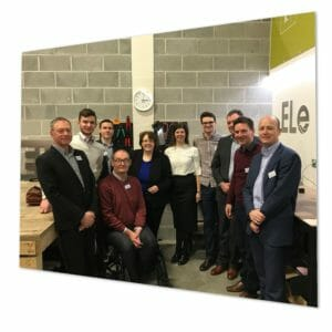 Rosie cooper and ELe team at energy efficient home launch