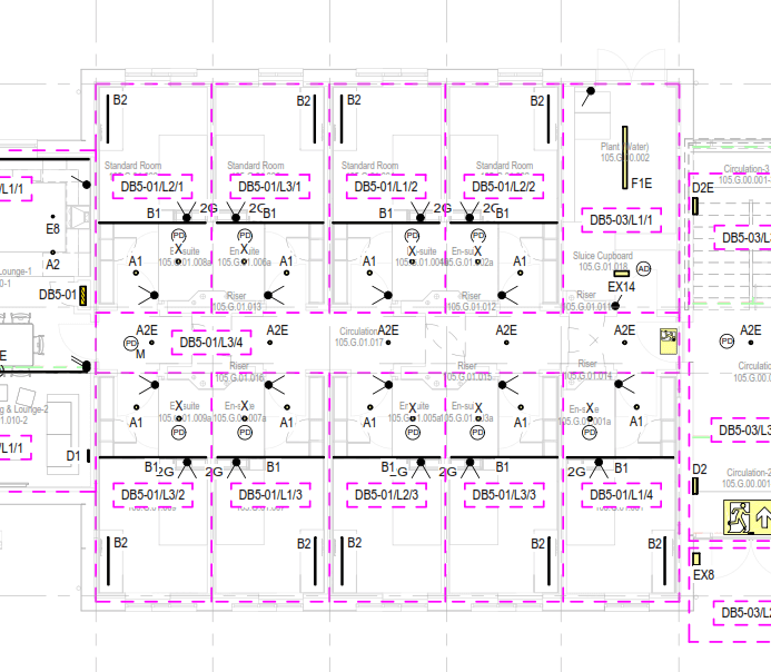 student accomodation lighting design layout
